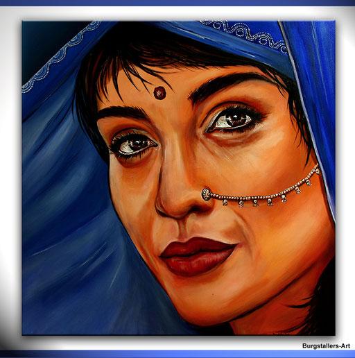 P 58 - Künstler Portrait Gesichter Gemalt - Hindu Women