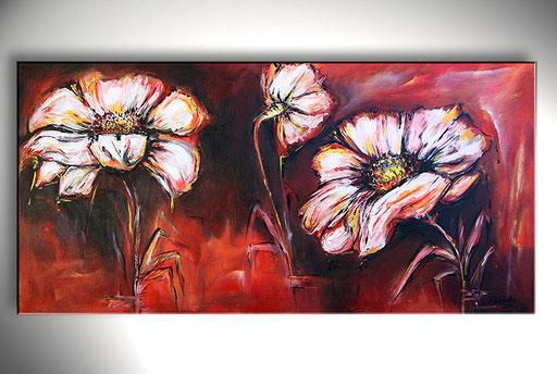 B 43 - Blumen Malerei Blumengemälde handgemalt Sonnenhut Bild
