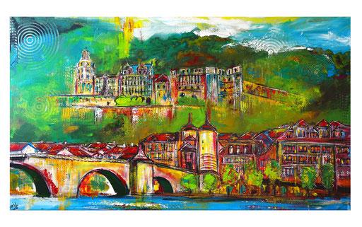 S 62 - Malerei Bild Heidelberg mit Schloss