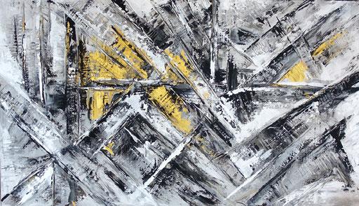 124 Verkaufte abstrakte Bilder - Mr. Grey gemalt - grau gold ocker