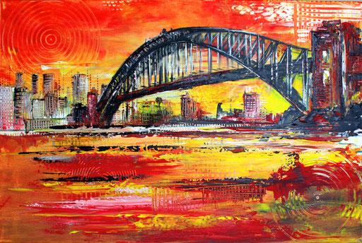 S 12 - Stadtbilder auf Leinwand - Sidney Harbour Bridge