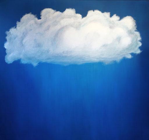 L 24 - Wolken Gemälde Wolkenbild XXL Wolke handgemalt