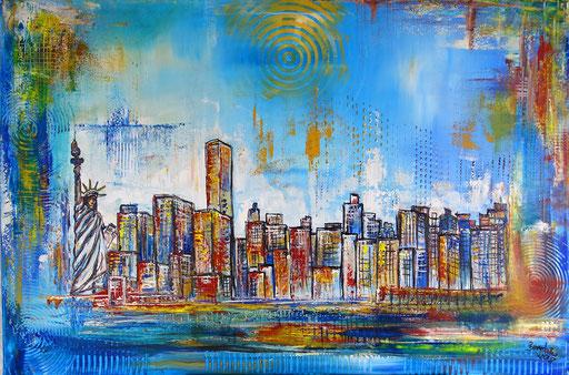 S 42 - New York Skyline Malerei Stadtbild Stadt Gemälde