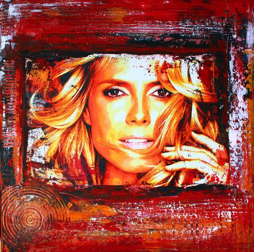P 48 - Künstler Portrait Gesichter Gemalt - Heidi