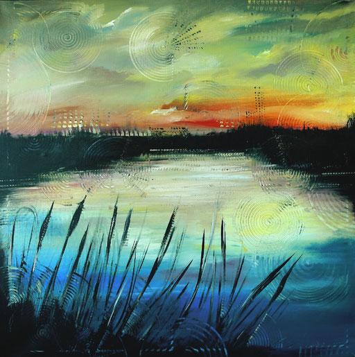 L51 - Landschaftsbilder Gemälde - Moor See