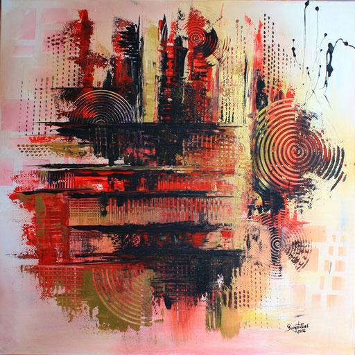 200 Verkaufte abstrakte Malerei - Unter der Haut gemalt