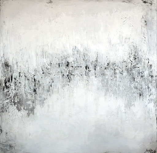 266 Verkaufte abstrakte Kunst Malerei hellgrau XXL Leinwandbild