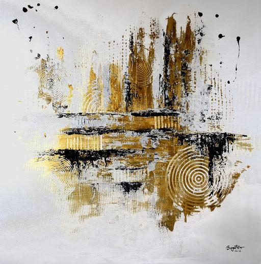 161 Verkaufte Bilder abstrakt - Silber Gold gemalt