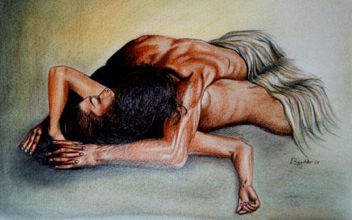 E 18 - Erotik Bilder Acryl - Extase 1