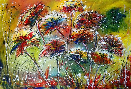 B 9 - Blumenbilder auf Leinwand - Blumen Samen