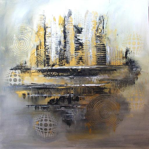 239 Verkaufte abstrakte Malerei gold silber