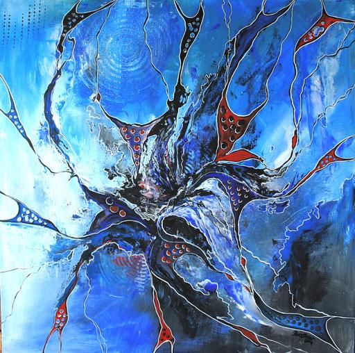 213 Verkaufte abstrakte Malerei - Waterworld handgemalt