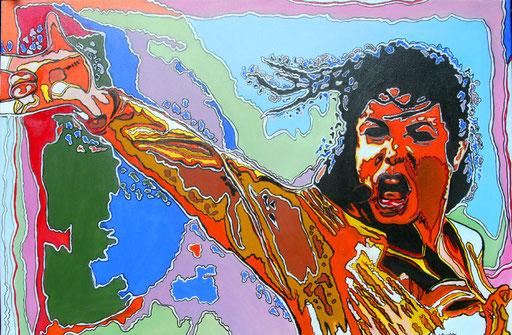 P 26 - Künstler Portrait Gesichter Gemalt - Michael Jackson 2