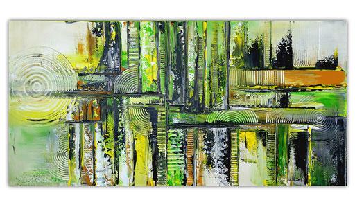 305 - Waldwege abstraktes Gemälde 100x50