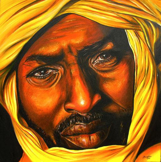P 4 - Künstler Portrait Gesichter Gemalt - Touareg 2