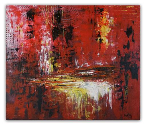 311 - Lavafluss rot gelb 50x70