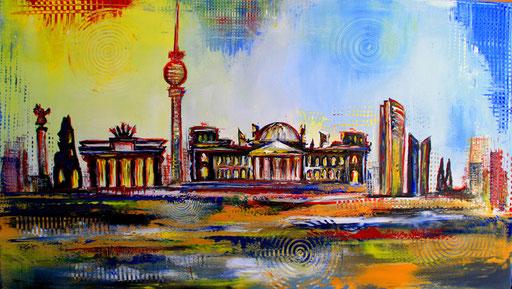 S 2 - Stadtbilder auf Leinwand - Berlin