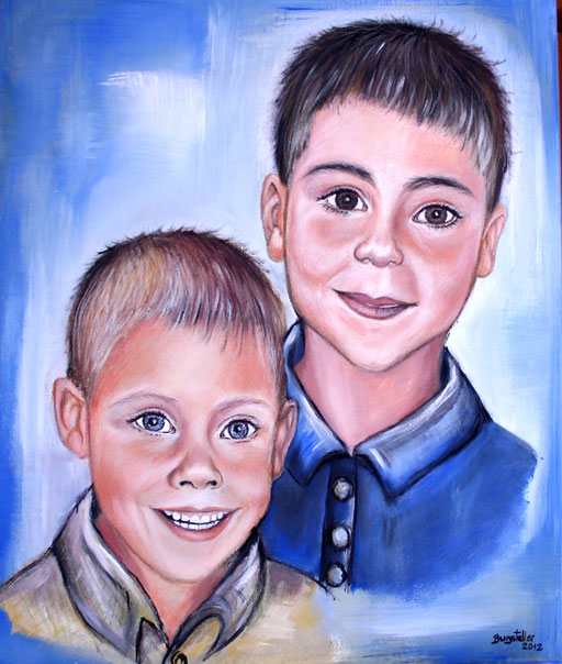 P 45 - Künstler Portrait Gesichter Gemalt - Kinder