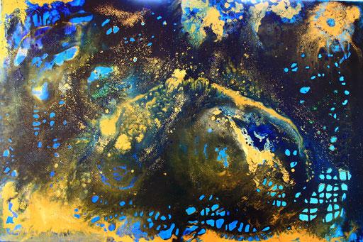 182 Verkaufte Bilder abstrakt - Universum gemalt