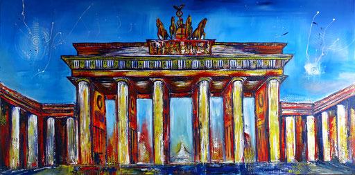S 5 - Stadtbilder auf Leinwand - Brandenburger Tor