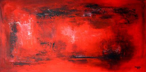 2 Handgemalte Unikate abstrakt rot schwarz
