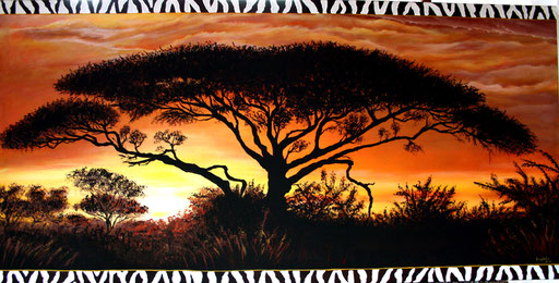 L 11 - Landschaftsbilder Gemälde - Afrika Landschaft