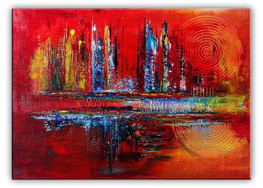 230 Verkaufte abstrakte Malerei - Feuerfront