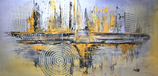 165 Verkaufte Bilder abstrakt - GEmälde Gold Silber