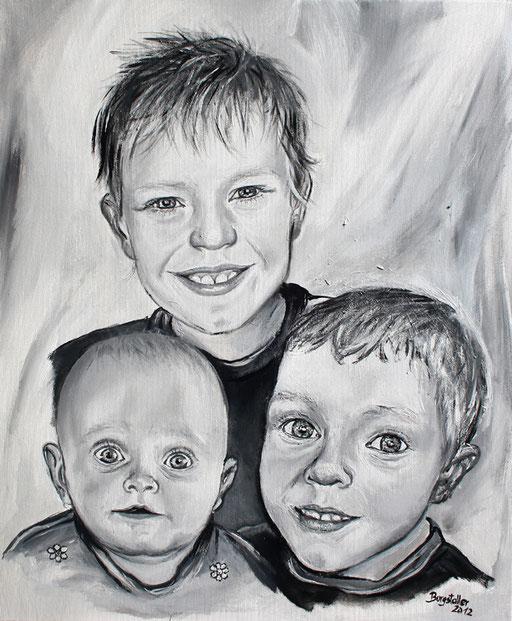 P 52 - Künstler Portrait Gesichter Gemalt - Patenkinder 2
