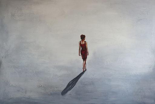 F 36 - Figuerliche Malerei - Figurative Wandbilder - Einsamkeit