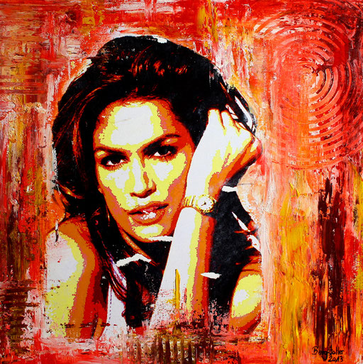 P 51 - Künstler Portrait Gesichter Gemalt - Cindy