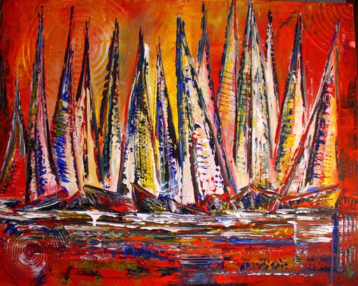 L 7 - Landschaftsbilder Gemälde - Segelboote
