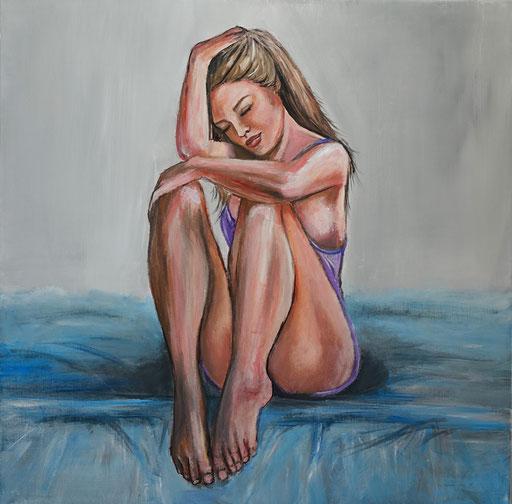 E 35 - Erotikbilder Acryl - alleine
