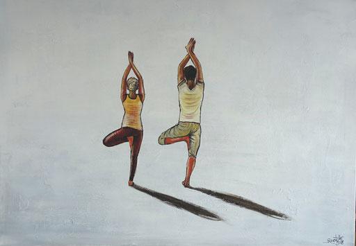 S 41 - Sport Gemälde Yoga Wandbild