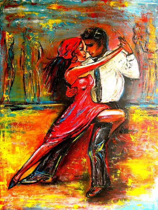 S 15 - Tanz Malerei - Gemälde Tänzer - Salsa 4