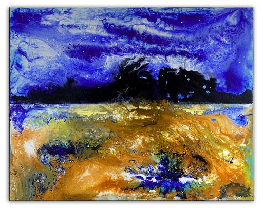 293 - Abstraktes Gemälde Bergsturm 80x120