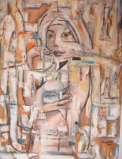 F 35 - Figuerliche Malerei - Figurative Wandbilder - Verhüllung