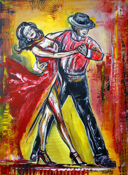 S 5 - Tanz Gemälde Tänzer - Mambo 2