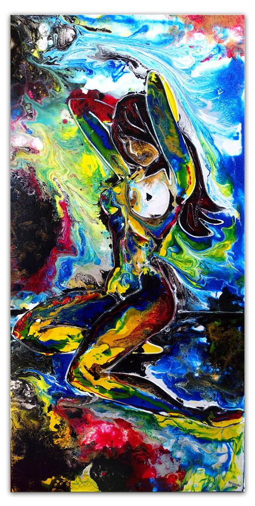 E 51 - Wasserfall Erotische Kunst Malerei - 50x100