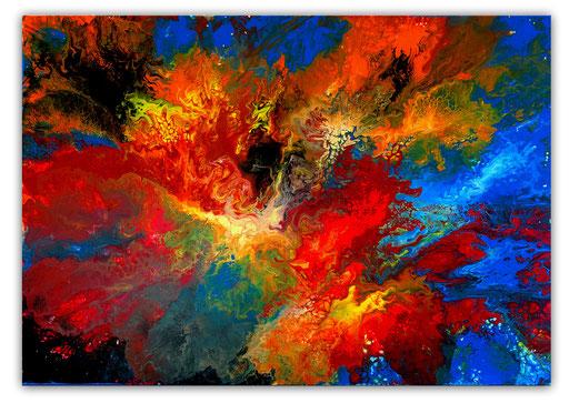 337 Schwarzes Loch abstrakte Malerei Wandbild Gemälde
