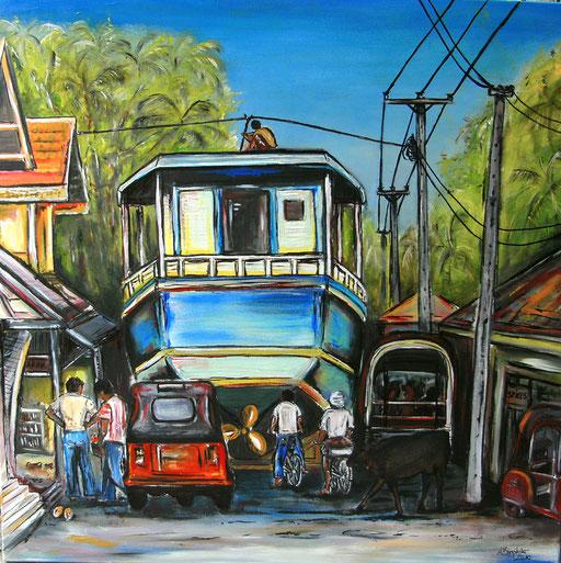 L 15 - Landschaftsbilder Gemälde - Sri Lanka Chaos