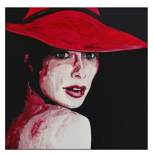 P109 Porträt Malerei Fluid Art Pouring Frauen Gesichter