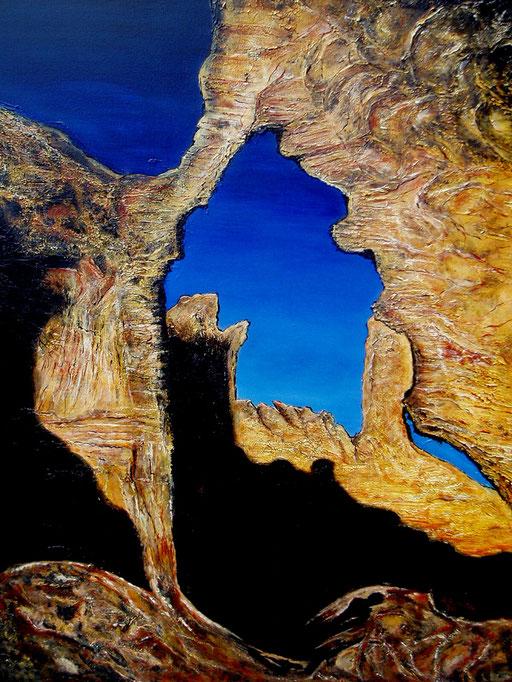 L 20 - Landschaftsbilder Gemälde - Algerien Steinwüste