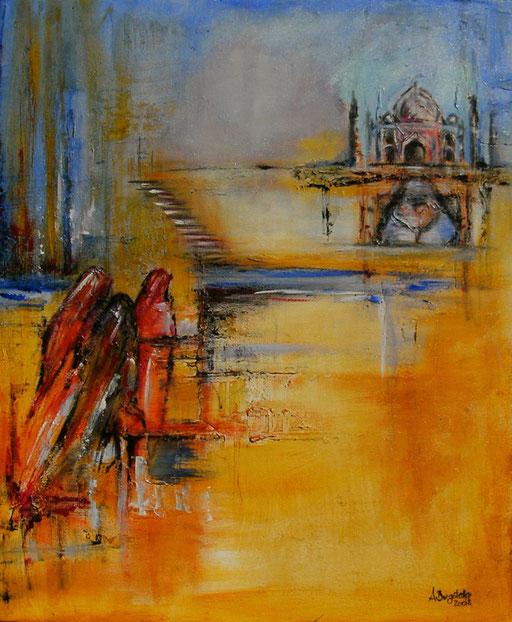 F 31 - Figuerliche Malerei - Figurative Wandbilder - Taj Mahal