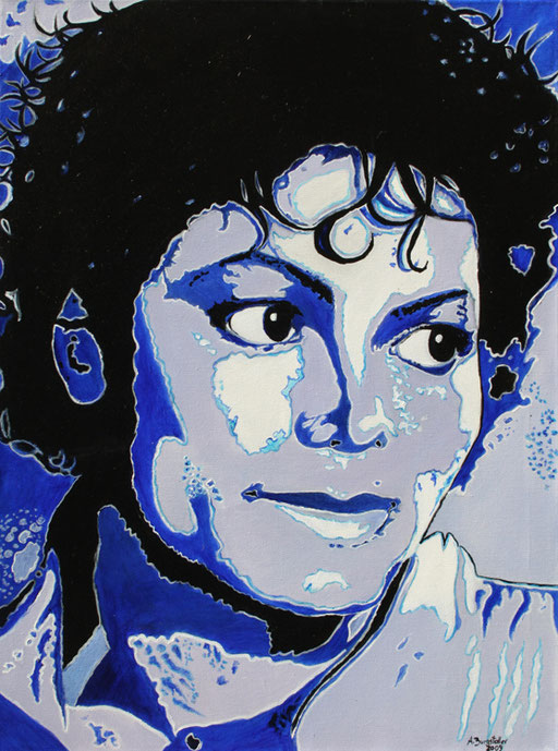P 42 - Künstler Portrait Gesichter Gemalt - Michael Jackson 3
