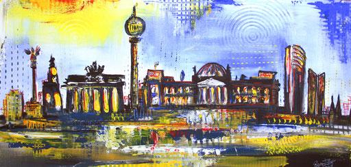 S 3 - Stadtbilder auf Leinwand - Berlin Reichstag