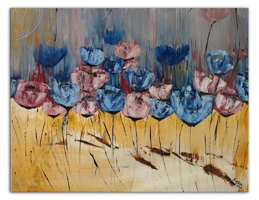 B 73 Blüten im Wind 70x100