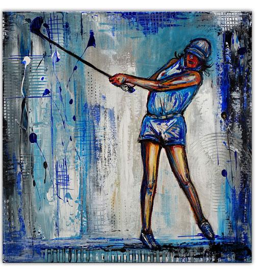 S 45 - Golferin Golfspielerin