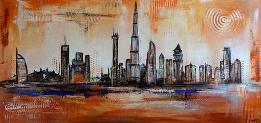 S 64 - Malerei Bild Wandbild Las Vegas Skyline abstrakt