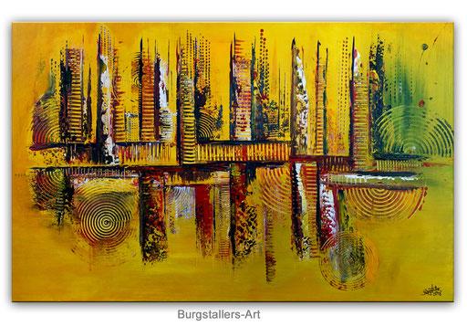 304 - Herbstlich abstraktes Gemälde 80x120